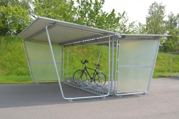 Fahrradüberdachung FS 5 zweiseitig